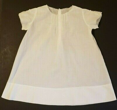 Vintage BABY Gown Dress Christening? Pin Tucks Lace Pleats  Embroidery Buttons