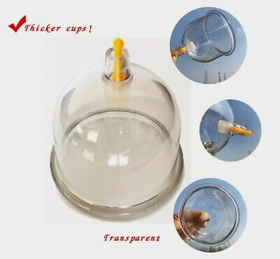 50 X High Quality Single Cups 7.7Cm Dry & Wet Cupping, Chinese Hijamah Therapy.