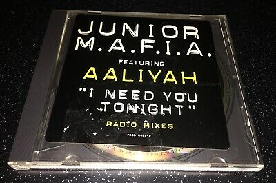 Junior Mafia W/ Aaliyah I Need You Tonight Radio Mixes Rare OOP 3 Track Promo CD
