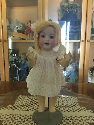 Antique German Toddler Doll on orig composition body. ca 1900s fully marked P.M.