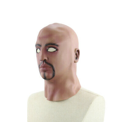 Realistic Latex Human Mask Scary Full Head Male Man Masks for Halloween H5V8