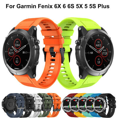 For Garmin Fenix 5 5X Plus 3 HR Silicone Quick Install Watch Band Easy Fit Strap