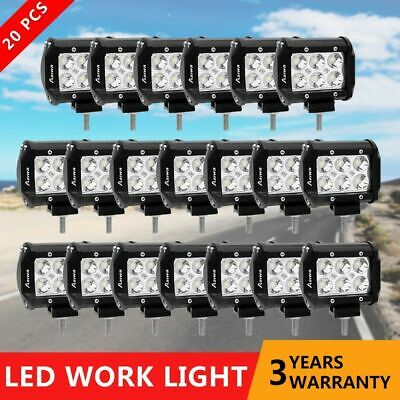 20x 4inch CREE Spot PODS LED LIGHT BAR WORK LAMP OFFROAD BOAT UTE CAR TRUCK