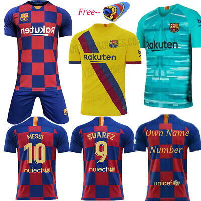 2020 Football Kits Messi Youth Jersey Strips Kids Adult Soccer Training Outfits