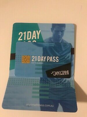 Anytime Fitness 21 Day pass gift card