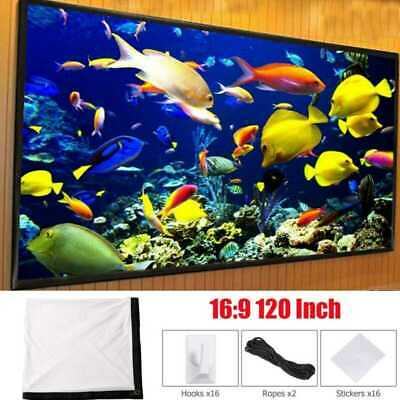 """120"""" Inch 16:9 Foldable Film Home Cinama Theater Projection Projector Screens UK"""