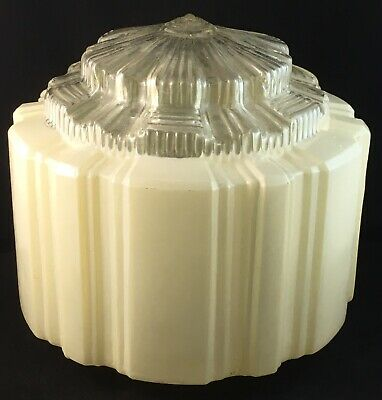 Art Deco Empire Stepped Sky Scraper Light Lamp Shade With Inbuilt Diffuser