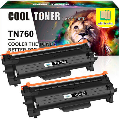2PK TN760 Toner TN730 for Brother MFC-L2710dw HL-L2730DW MFC-L2750DW with Chip