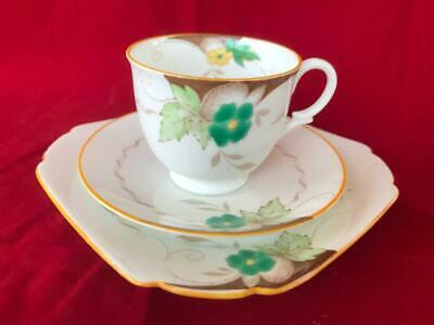 Fine Art Deco Shelley Bone China Cup, Saucer And Plate.