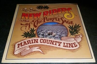 "New Riders Of The Purple Sage "" Marin County Line "" Lp Mca Mcf2820 A1/B1 N Mint"