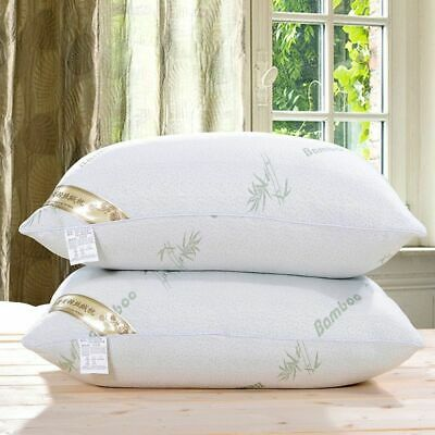 Bamboo Anti Snore Memory Foam Firm Pillow Pack Pillows Head Neck Back Support