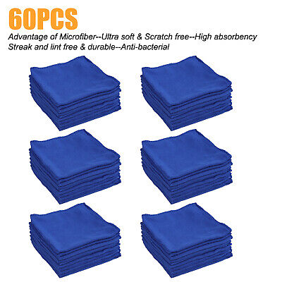 60-Pack Microfiber Cleaning Cloth ,Ultra soft & Scratch free & Anti-bacterial