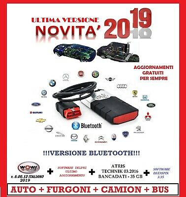 Diagnosi Auto Professionale Auto Camion Bus 2019 Bluetooth + 7 Software