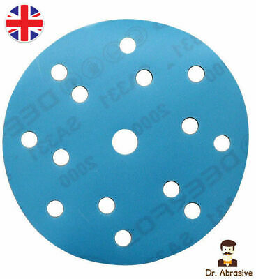 150mm Wet and Dry Sanding Discs 6 inch DA /15 Hole / Hook and Loop Veicro Pads