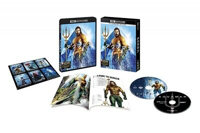 New Aquaman 4K ULTRA HD+Blu-ray Booklet Sticker First Limited Edition Japan F/S