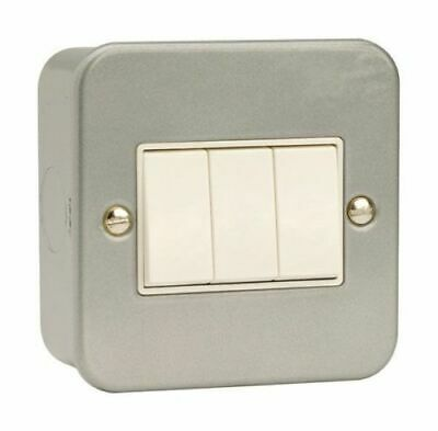 Metal Clad 3 Gang 2 Way Light Switch | Click CL013  Industrial Switch