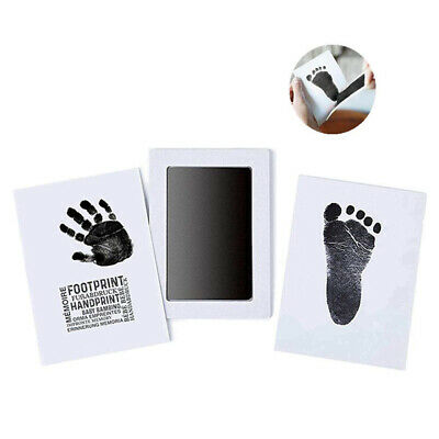 Baby Safe Inkless Touch Footprint Handprint Ink Pad Mess Free Commemorate W5bj