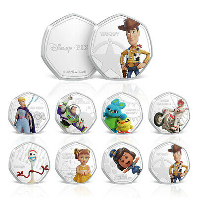 Disney Toy Story 4 Limited Edition 50p Shaped Collectable Coin Bundle Woody Buzz