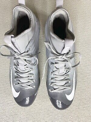 fb96cca67158 Nike Baseball Cleats Flywire Size 13 Lunarlon Gray White High Tops By Mike  Trout