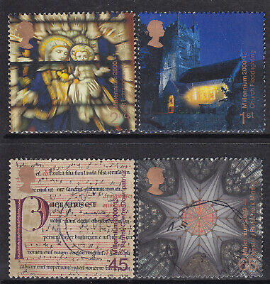 2000 GB Millennium Series Christmas Spirit & Faith SG 2170-2173 Set Of 4 Used
