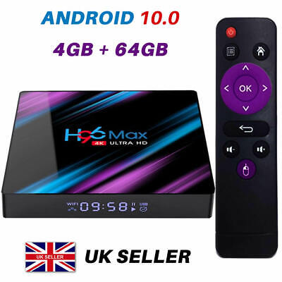 2019 H96 MAX Android 9.0 TV Box 4GB+64GB HD Media Player 4K 2.4G/5GHz WIFI UK