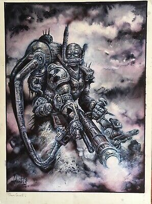 Vor The Maelstrom Chem Grunt Original Hand Painted Art Clint Langley