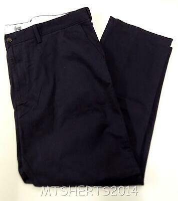 Mens Ex M&S Premium Quality 100% Cotton Chino Trousers All Sizes Navy - PA21