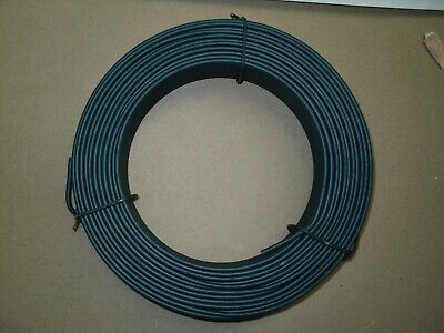 Green PVC Coated Tension Straining Fencing Line Wire -  76mtrs - 3.8mm Diameter