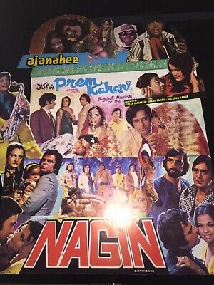 Job Lot Cinema Advert Flyers & cut outs of Classic Indian Hindi Bollywood Films