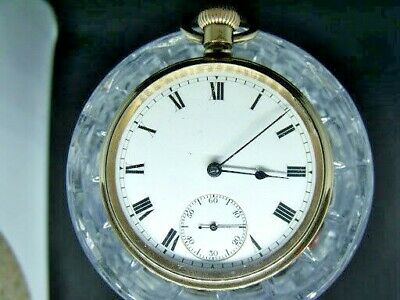 Antique Pocket Watch  Waltham  Traveler   Gold Fill 1906 7 Jewel Fully Working
