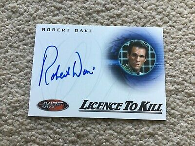 James Bond 007 40th Anniversary Expansion Card - Robert Davi Autograph A27