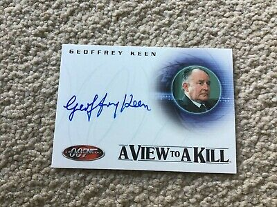 James Bond 007 40th Anniversary Expansion Card - Geoffrey Keen Autograph A25