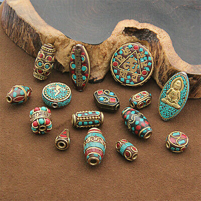 1Pcs Handmade Nepal Loose Beads Retro Copper Spacer Jewelry Wholesale Top Making