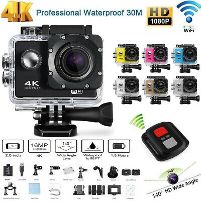 Full HD 4K 1080P WiFi Waterproof Sports Action Video Camera DVR Camcorder Go Pro