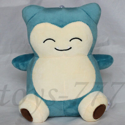 "Pokemon Character Snorlax 8"" Stuffed Animal Plush Toy Bear Cartoon Soft Cuddly"