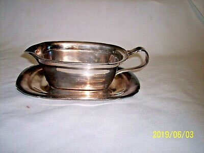 Vintage Reed Barton Silverplate Gravy Sauce Plate Boat Tray Mayflower 5000