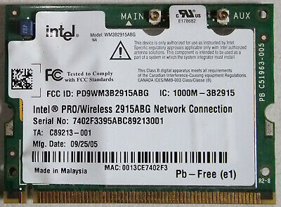 INTEL PRO WIRLESS 2915ABG NETWORK CONNECTION DOWNLOAD DRIVER
