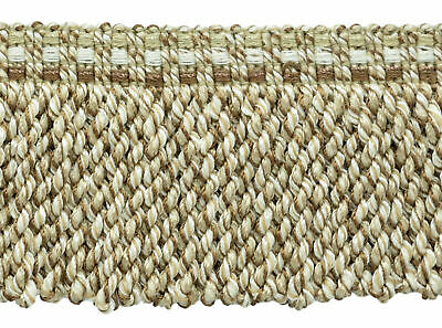 "Light Brown, Ivory, Sandstone Beige|3"" Bullion Fringe