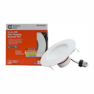COMMERCIAL ELECTRIC 5 in & 6 in White Recessed LED Trim