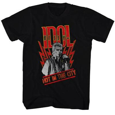 Billy Idol Hot In The City Black Adult T-Shirt