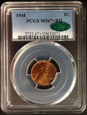 1944 Lincoln Cent - PCGS MS67+ RD