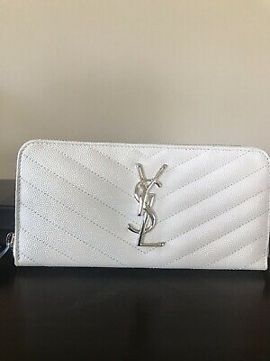 3784764e1e7 Saint Laurent Monogram YSL Quilted Leather Zip-Around Wallet( Authentic)