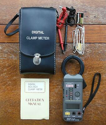 Solex SM-600 AC/DC Digital Clamp Meter. With Case and Accessories.