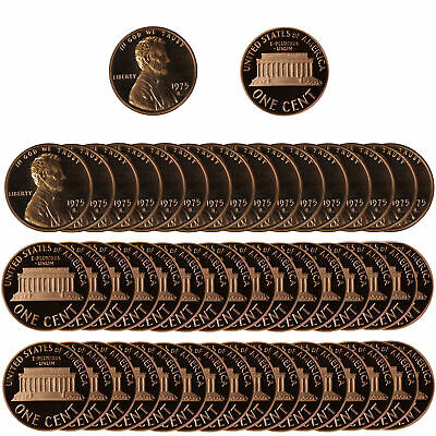 1976 Gem Proof Lincoln Cent Roll - 50 US Coins