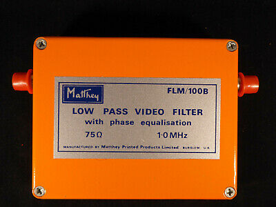 Video Low-pass 1 MHz filter with phase equalisation - Matthey product.