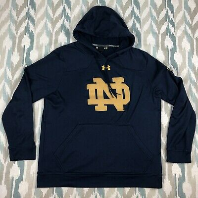 Under Armour Indianapolis Shamrock Norte Dame Men's Hoodie Blue Size M Medium