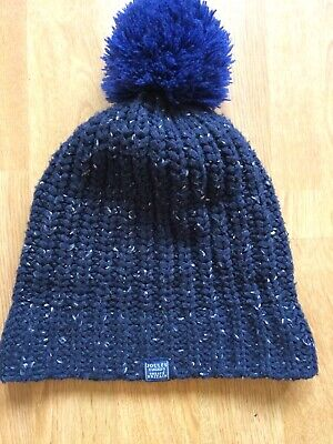 Joules 100% Polyester Navy Speckaled Bobble Hat Age 4 - 7 Years