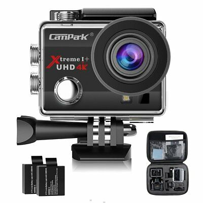 Campark ACT74 Action Camera 4K 16MP Waterproof Cam FHD 30M Underwater Sports Cam