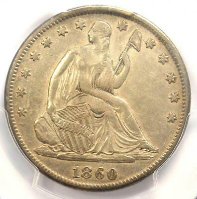 1860-S Seated Liberty Half Dollar 50C - Certified PCGS XF Details - Rare Coin!