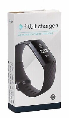 Fitbit - Charge 3 Activity Tracker + Heart Rate - Black/Graphite